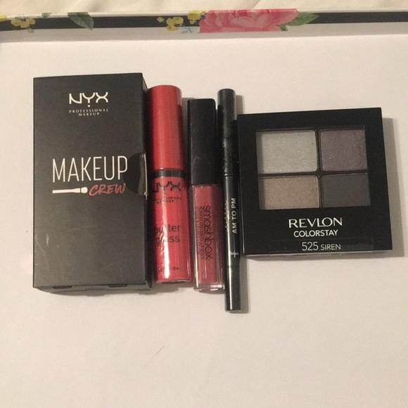 5pc makeup: Revlon, NYX, Smashbox & lottie London